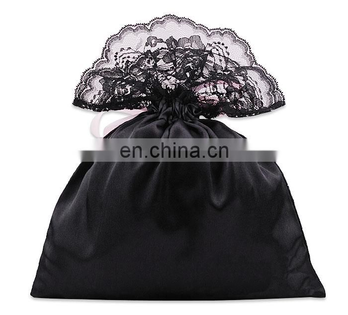 Wholesale custom lace gift drawstring pouch bag
