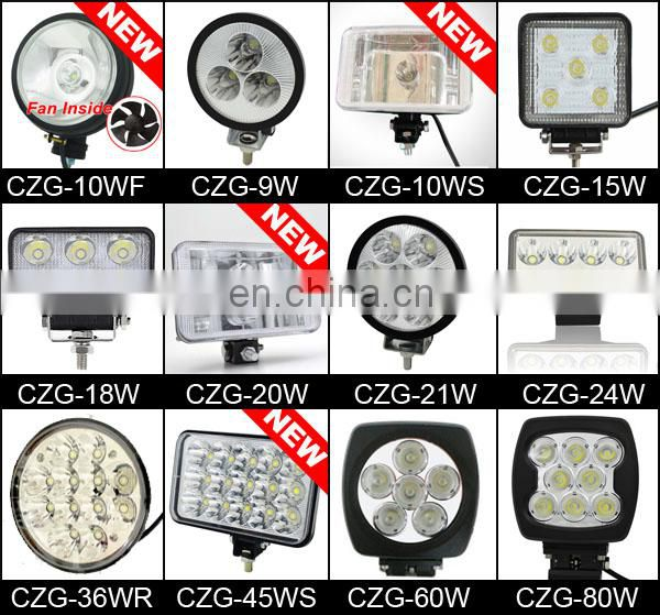 CE Certificate Car Accessories 7 inch Round LED Vehicle Light Car LED Headlight With Angel eye