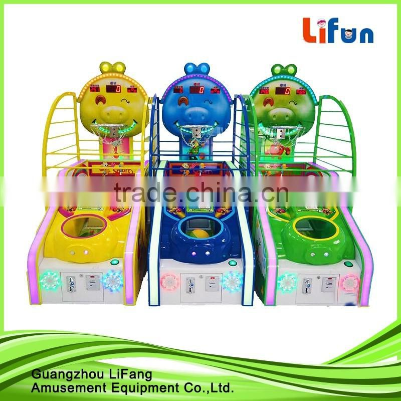 Canton fair guangzhou game factory amusement games machine/street hoop basketball machine