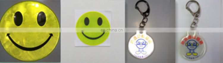 Safety roadway kids protective pendant PVC material children reflective colorfull safety keychain