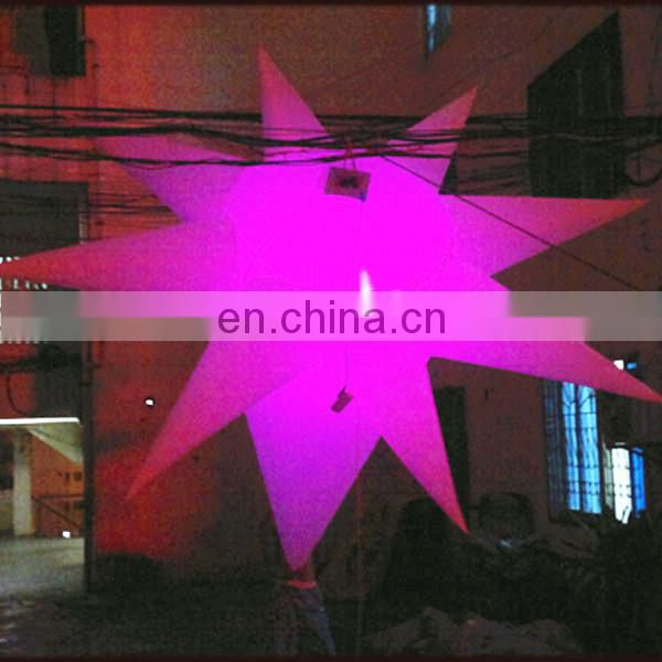 special round inflatable star inflatable hanging star for ceiling decoration