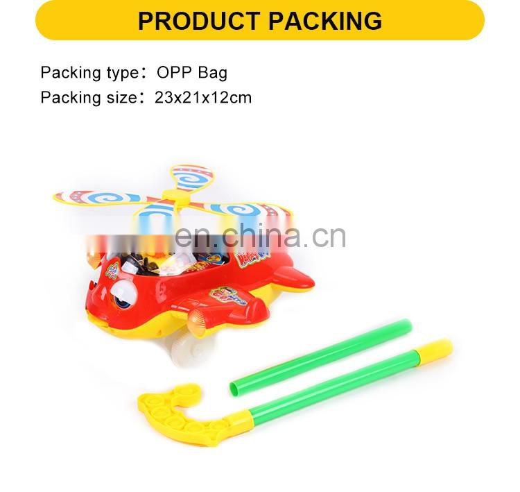 Hot Sale Baby Toy Cartoon Plastic Hand Push Plane