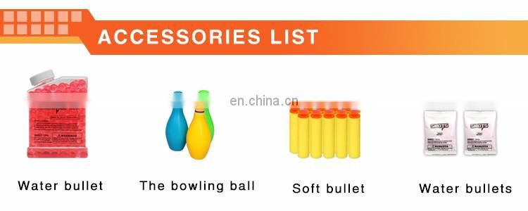 Hottest children's summer toys safe water and soft bullet plastic air powered launcher water gun with bowling ball for shooting
