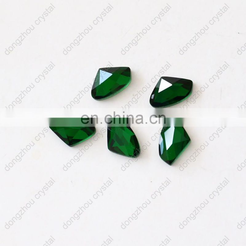 DZ-1750 loose crystal fancy point back glass stones for jewelry