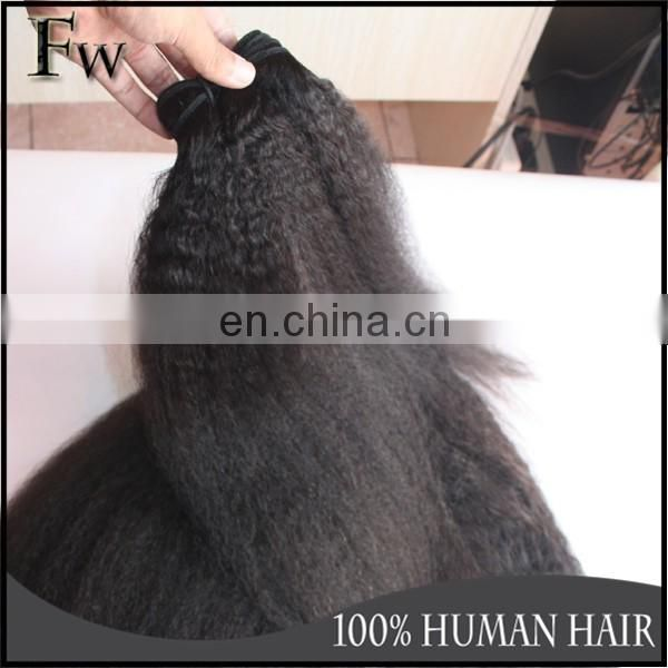 Top Grade Kinky Straight 100% Cambodian Virgin Hair Italian Yaki Hair