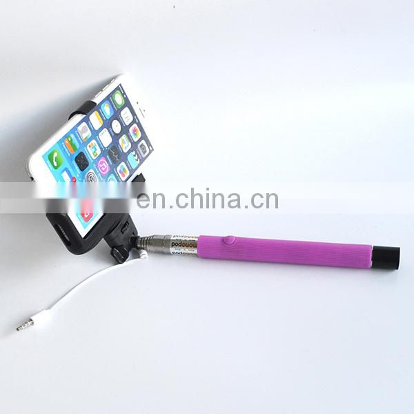 Newest Model Z07-5S Wired Remote Selfie Stick for Android and iOS