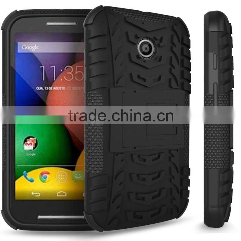 waterproof shockproof heavy duty back cover armor kickstand hybrid holster combo case for motorola moto e