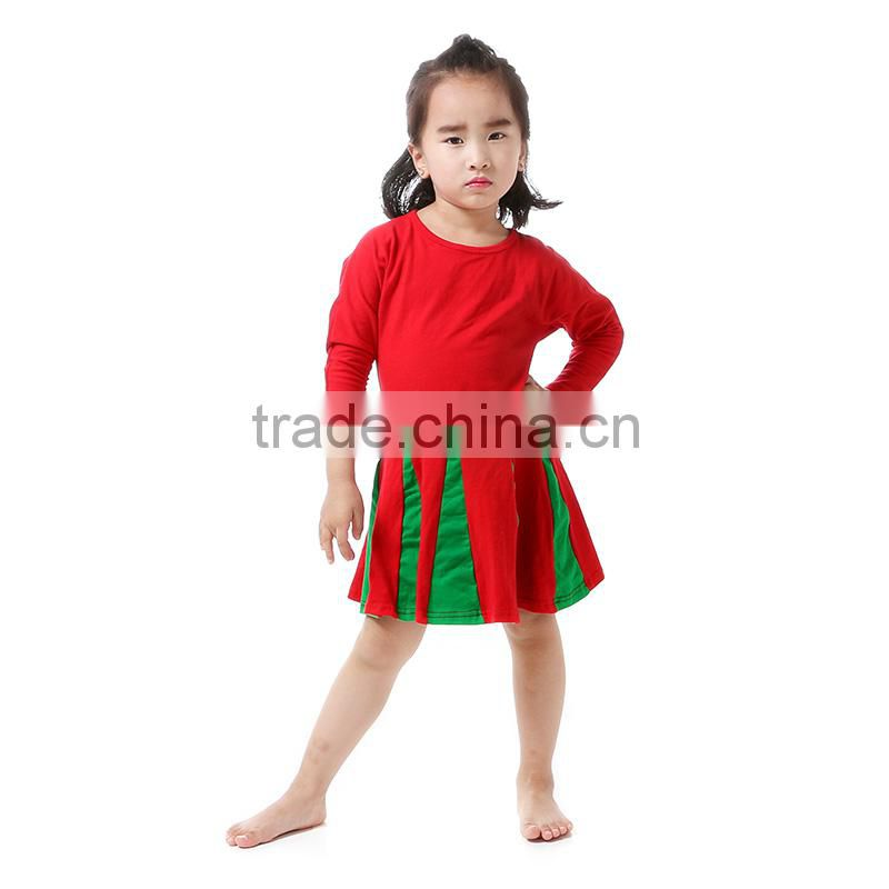 wholesale 2016 Fashion Red One Piece Flower Girls Party Princess Dresses Long Sleeve Girls Clothes Kids Dresses for Girls Costum