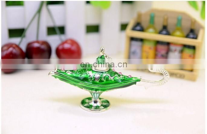 Mini Aladdin lamp figure trinket jewelry box new 2015