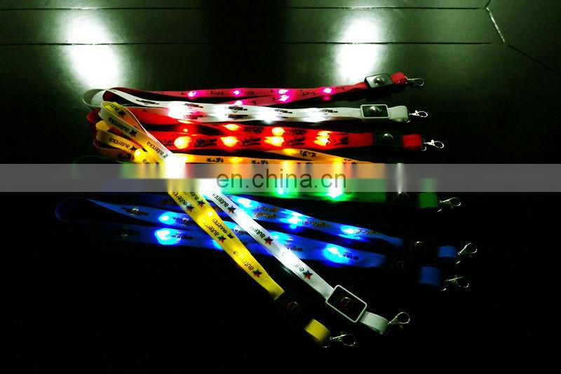 Glovion led spot light lanyard customized logo is available ultra-high-bright led light lanyard