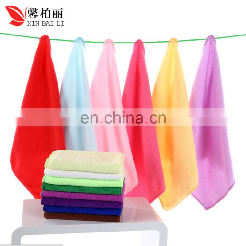 China factory supplier microfiber 25*25 cm kitchen kid car wash towel