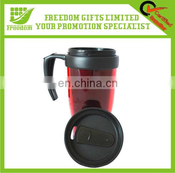 Customized Logo Promotional Plastic Travel Mug