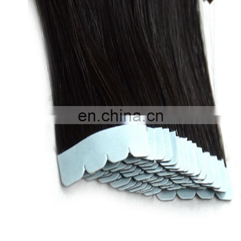 Natural Black 100% Unprocessed bresilienne Human Tape Hair weaving 100g/set dropshipping Kinky Straight Virgin Hair extension