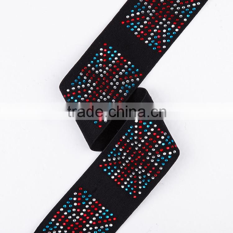 High Quality Spandex Decorative Color Textile Jacquard Fabric Elastic Band