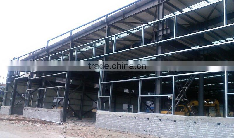 China Prefabricated Two Story Steel Structure Warehouse