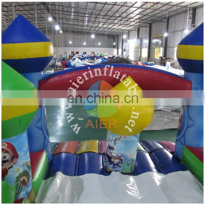 Mario theme inflatable obstacle course
