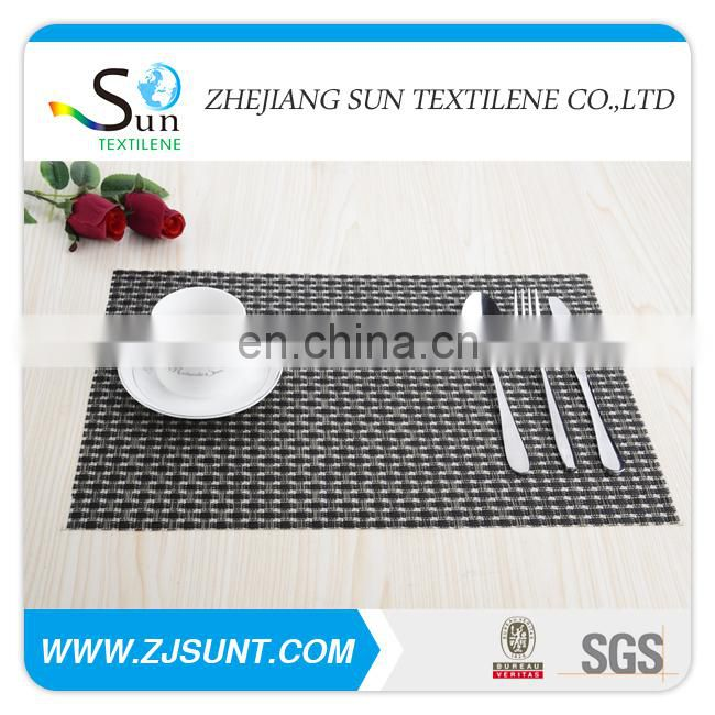 Hot sale 8x8 black PVC placemat made in China