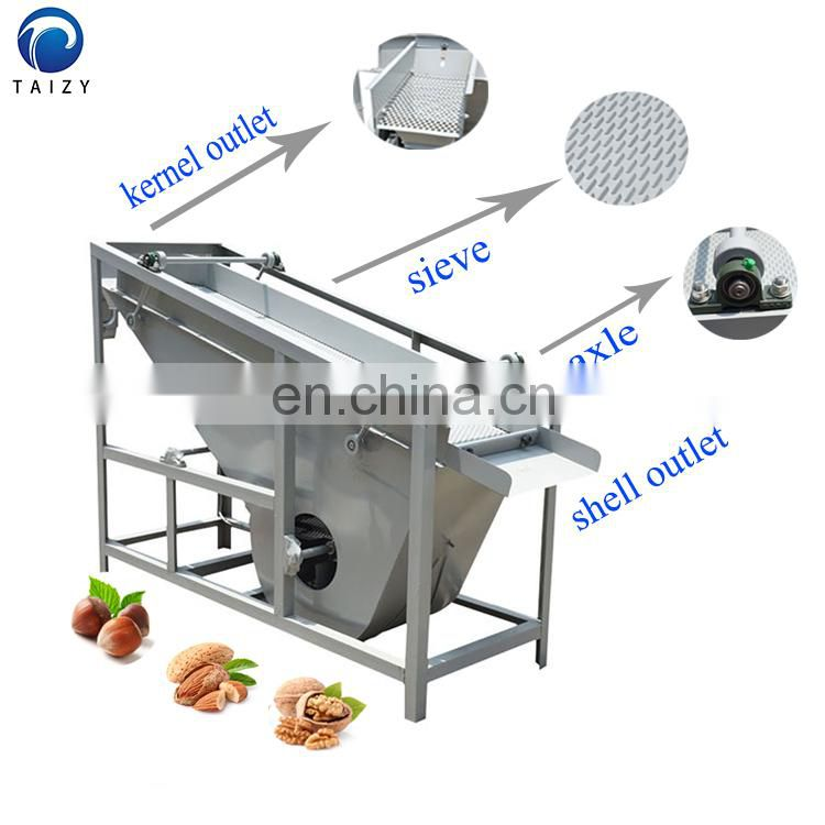 Stainless steel cashew almond nut walnut shell kernel separating processing machine