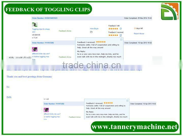 material clips auto clips for leather toggling machine