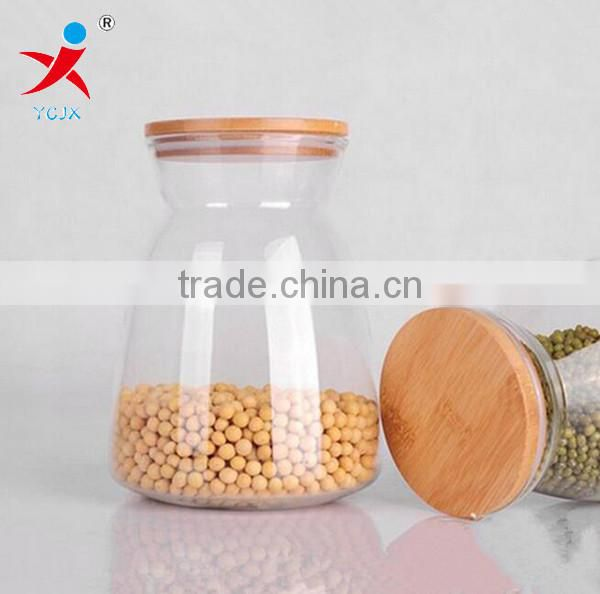 Wholsale High Quality Bamboo Plug Pyrex Glass Bottle