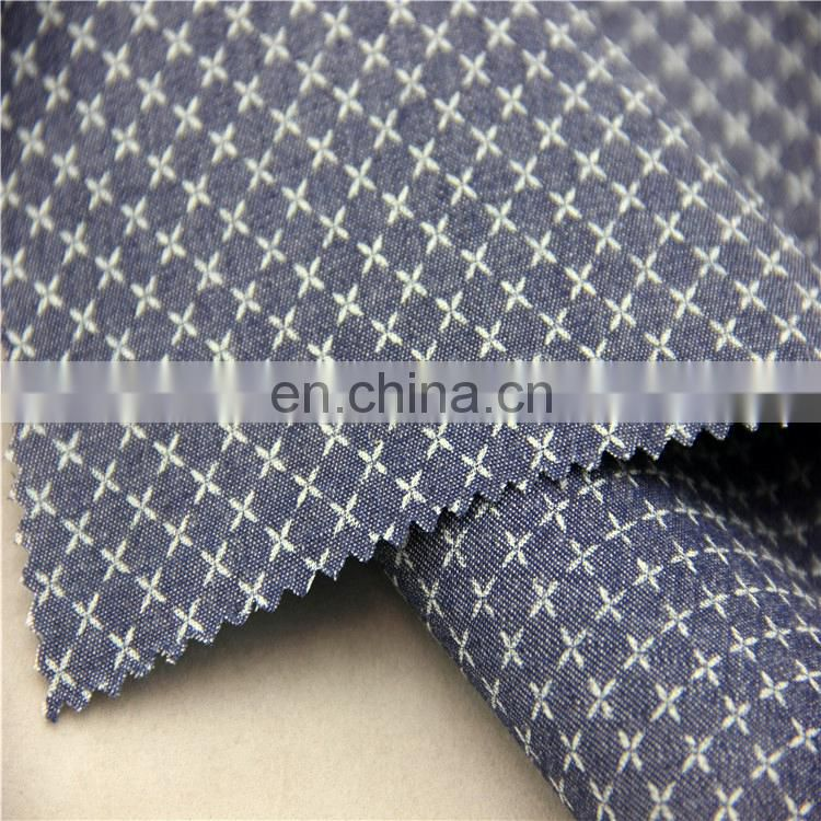 2016 china best products cotton denim printed fabric