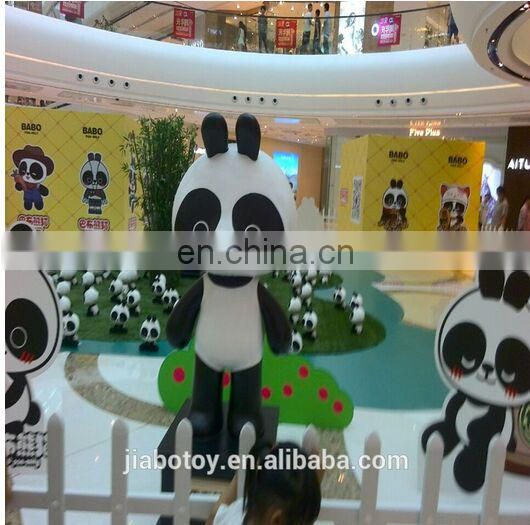 Life size Giant ,realistic panda plush toy . Giant Panda doll posed in a realistic stance. custom design plush toys