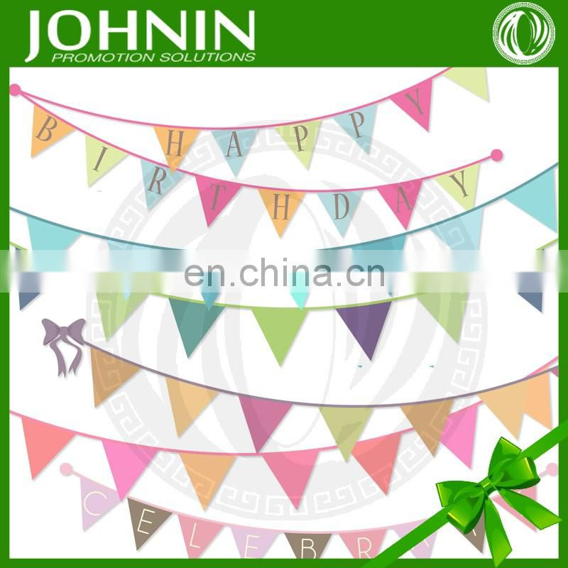 wholesale gift custom logo polyester fabric bunting string banner flag