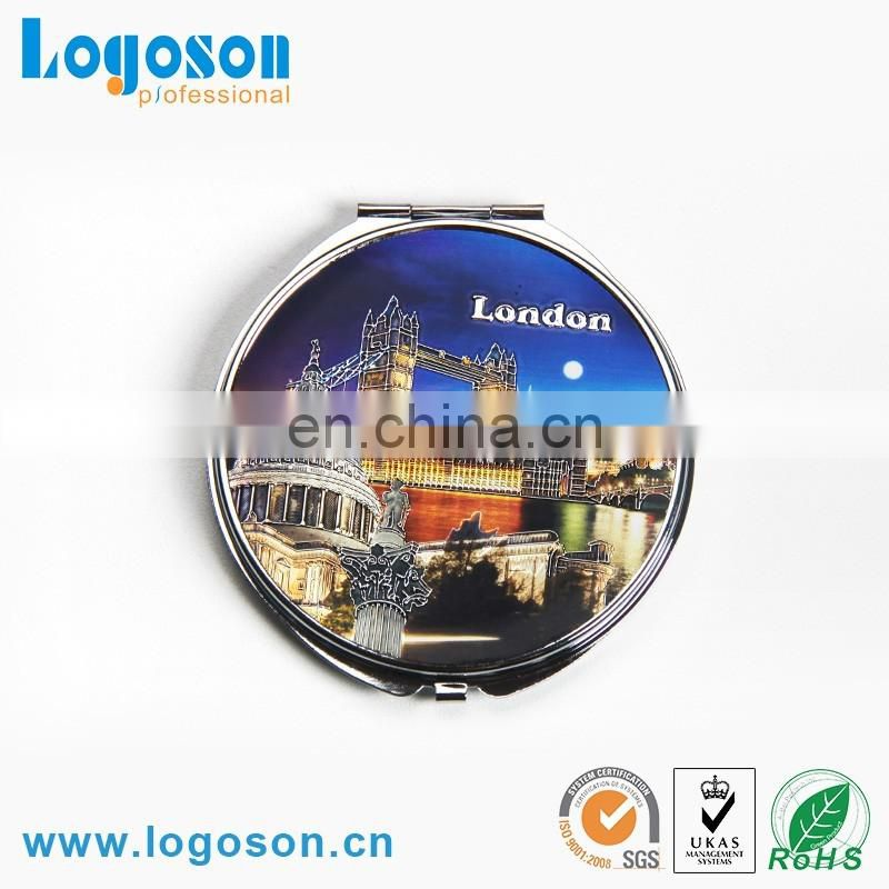 Square shape and round shape makeup metal compact mirror
