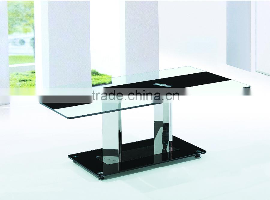 hot-selling modern clear tempered glass coffee table