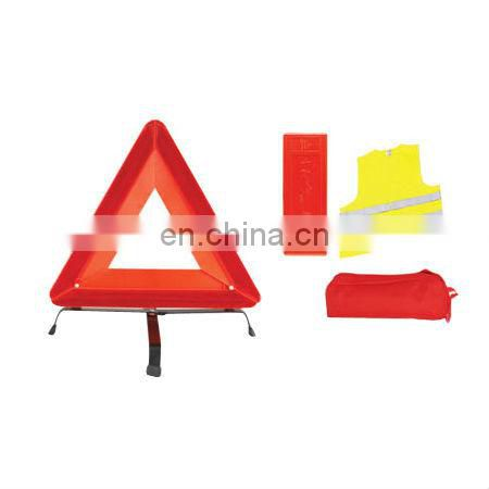 E-MARK/Car Accident Kits with Warning Triangle and Safety Vest and Made of 100% Polyester Tricot