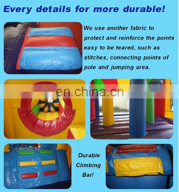 Jungle design fun land, inflatable interesting obstacle course ID-OB015