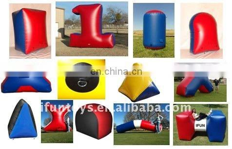 14'Lx16'Wx5'H airtight inflatable paintball-X shape