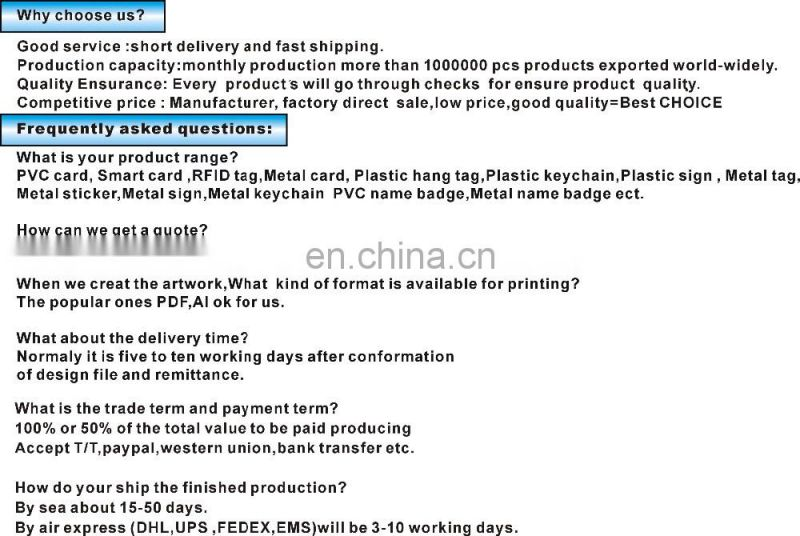 High quality 2MM thickness cheap working ID Card for access