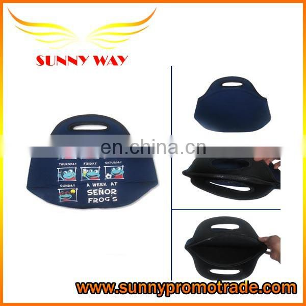 Customized Neoprene lunch bag wetsuit material picnic bag