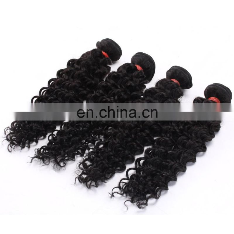 Good Feedback Deep Curl Best Selling High Quality virgin human Hair bundles brazilian loose deep wave hair weave