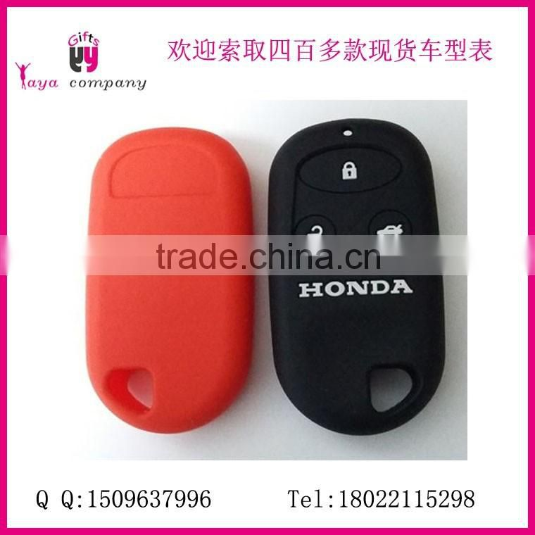 Black silicone key fob cover case smart remote pouches protection key chain fits Cadillac car keys
