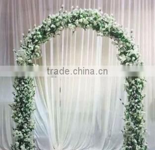 Artificial wisteria flower Arch with iron frame for wedding party decoration