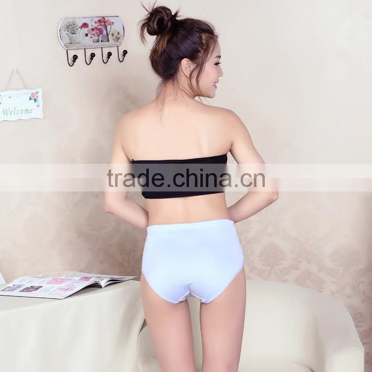 Cute polyester cotton comfortable high waist maternity panties comfortable fashion plus size women panties