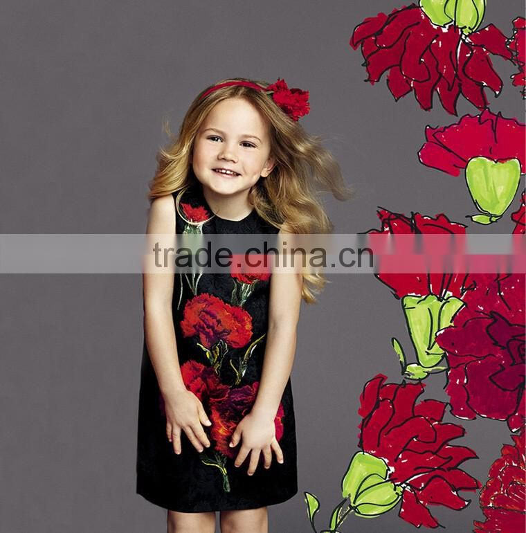 New Summer Girls Dresses Floral Sundress Party Casual Baby Kids Clothes