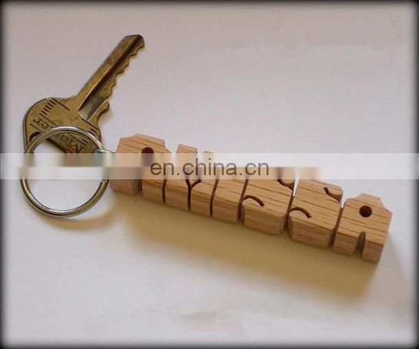 make custom bottle-shaped wood keychain