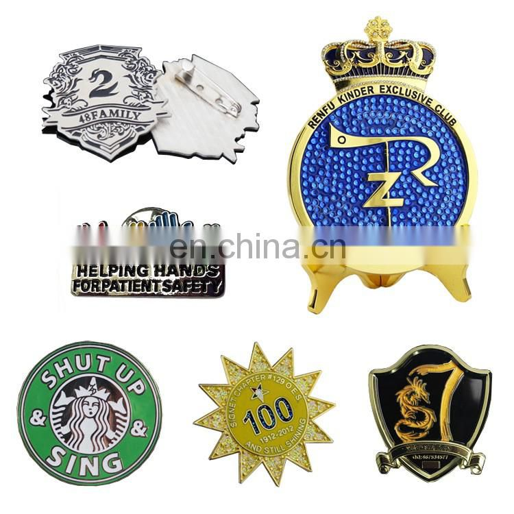 Custom rectangular & round acrylic name badges / souvenir badge for promotion