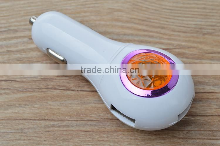 new design 3 in 1 jewel usb car charger with LED light Image