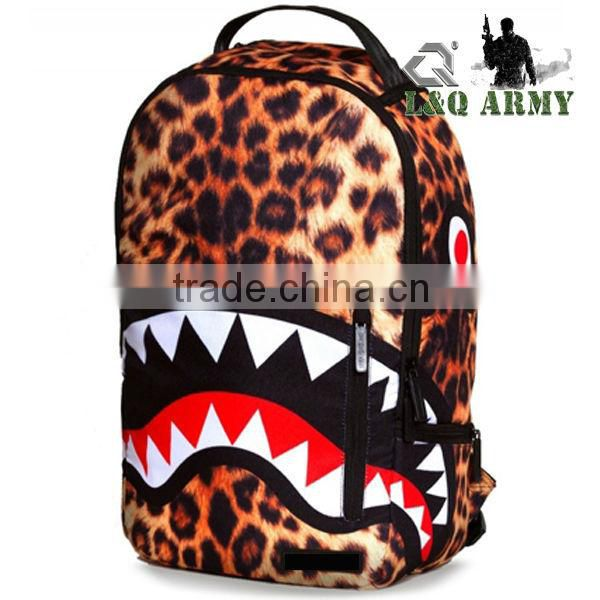 Leopard Backpack Sublimation Backpack Laptop Backpack