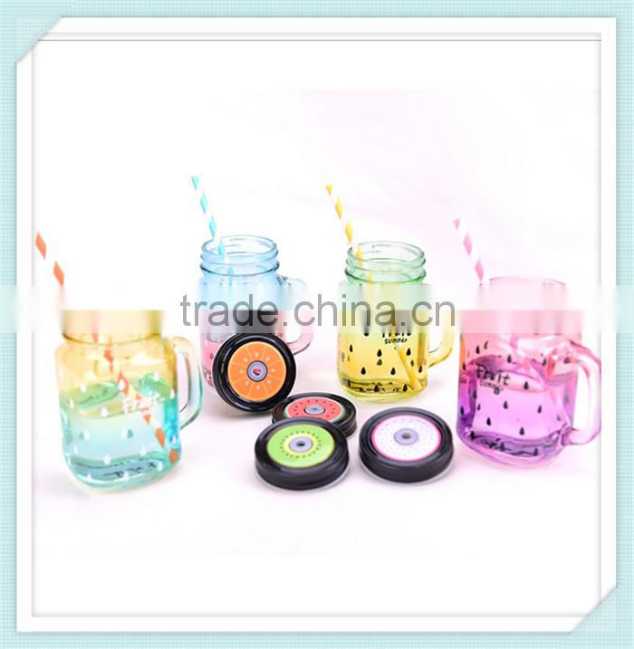 16oz Mason Jar Drinking Glasses With Straw
