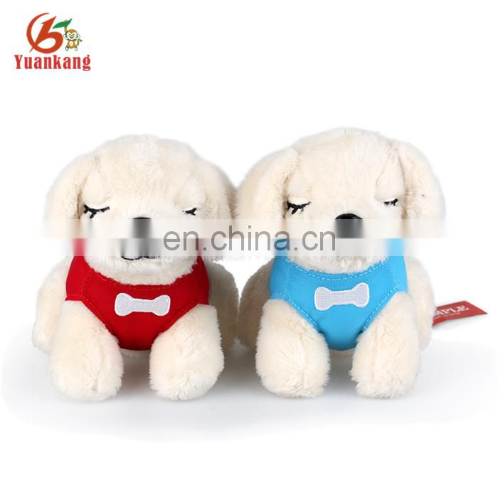 ICTI factory wholesale 25cm plush soft pug-dog toy with shirt
