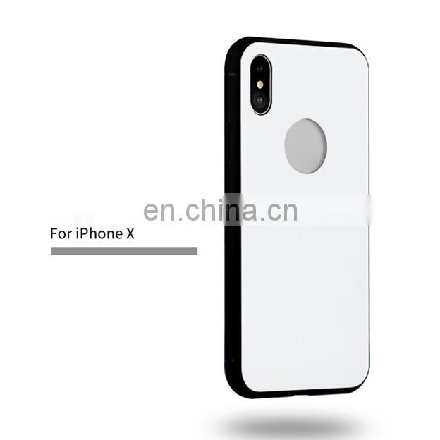 2017 new solid color Anti-Drop Acrylic PC Back + Soft TPU Edge Hybrid Back Cover Case for iPhone X