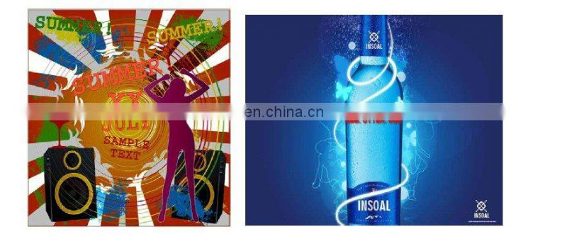 el poster panel /uv material el flashing advertise panel/indoor el poster