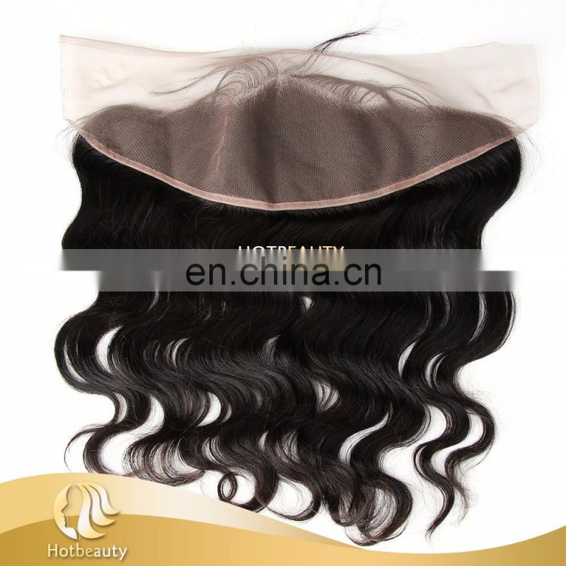 silk frontal hair piece 100% brazilian virgin hair silk frontal closures ear to ear