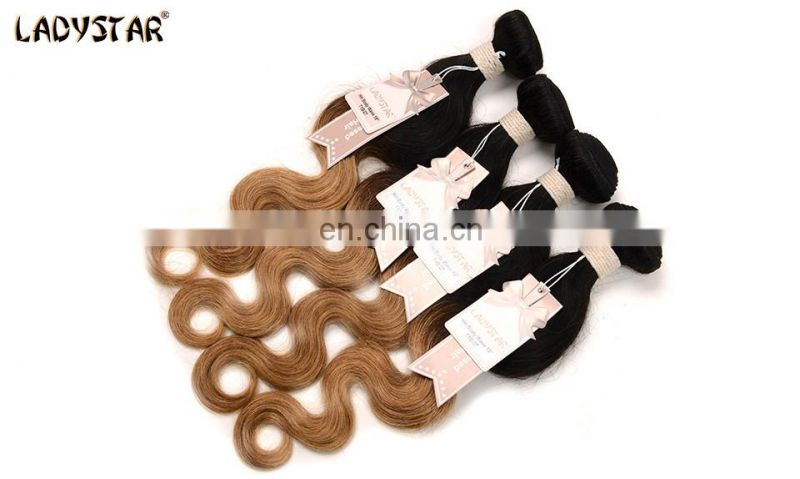 wholesale ombre color body wave hair extension human hair