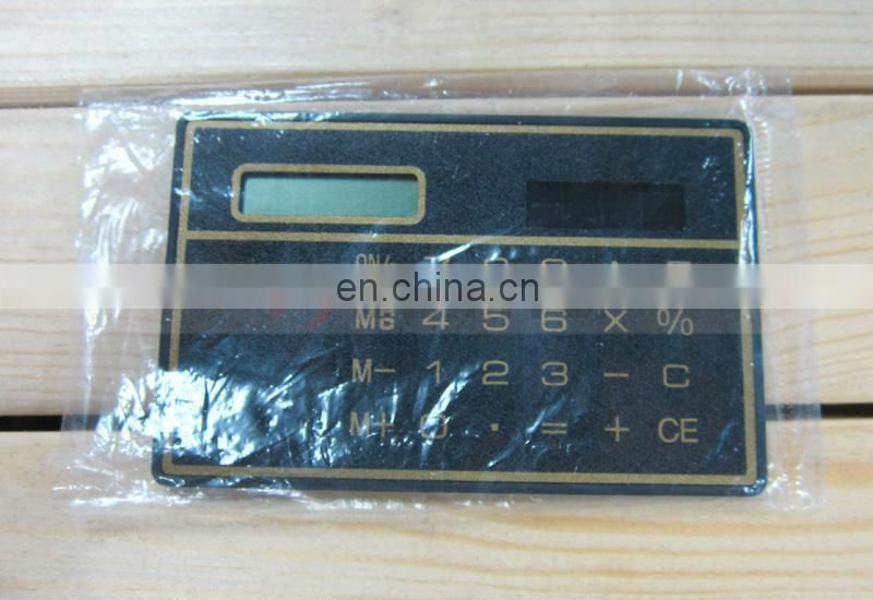 85mm Length Slim Pouch Portable Solar Tiny Calculator